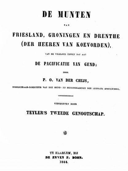 p.o. van der chijs munten van friesland groningen drenthe