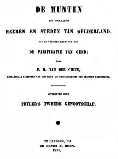 p.o. van der chijs deel 3 heeren en steden van gelderland