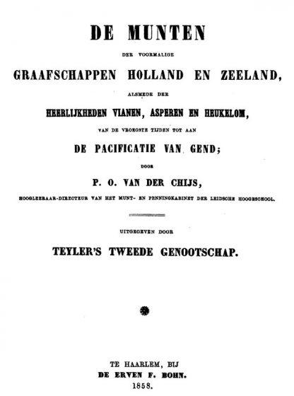 p.o. van der chijs de munten van de graafschappen holland en zeeland